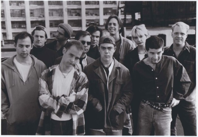 The cast of MTV's The State, all grunge and irreverence. Allison is on the far right.