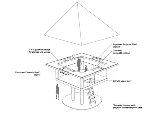 A mockup of the planned pavilion. via website