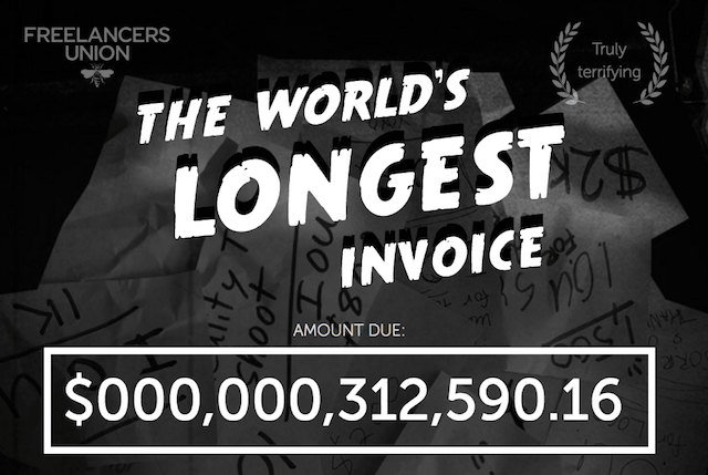 Stiffed on freelance pay? Add what you're owed to the 'World's Longest Invoice'
