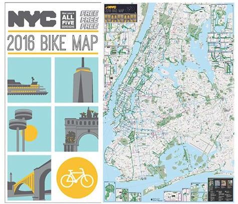 Bike Lane Nyc Map.The New Nyc Bike Map Is Here With New Brooklyn Bike Lanes