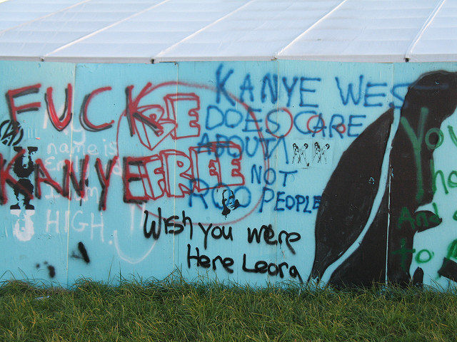 You think the headliners are worth it? Ask people about the famous Kanye Bonnaroo meltdown of '08.  Via Flickr user divertingbailey.