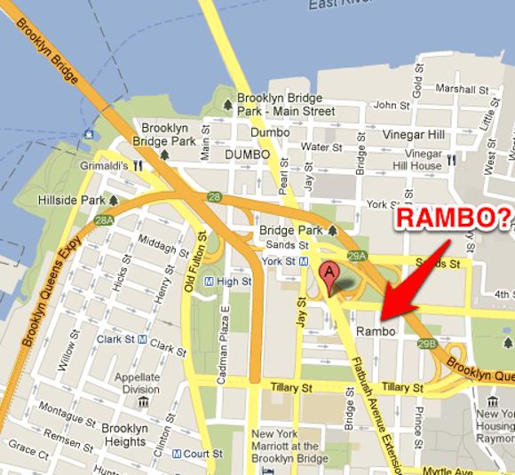 Rambo is real. via Dumbo NYC