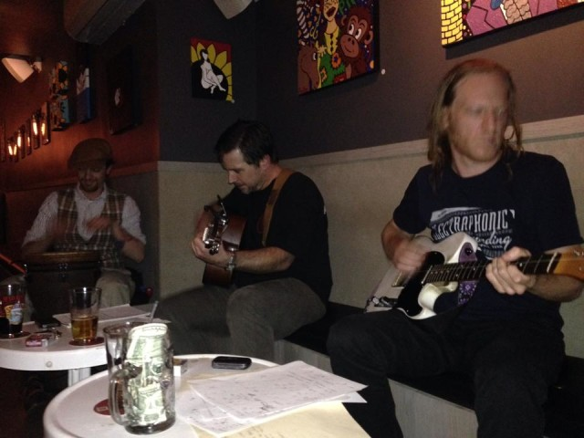 A jam session at the bar. Via Facebook.