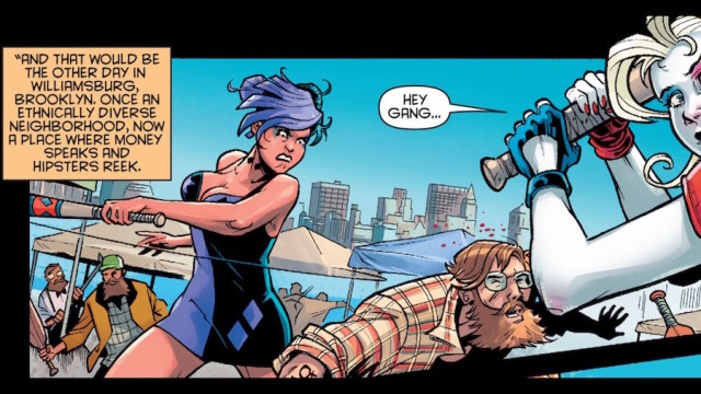 Harley Quinn beats up the 'Hipster Mafia' at Smorgasburg in her new comic