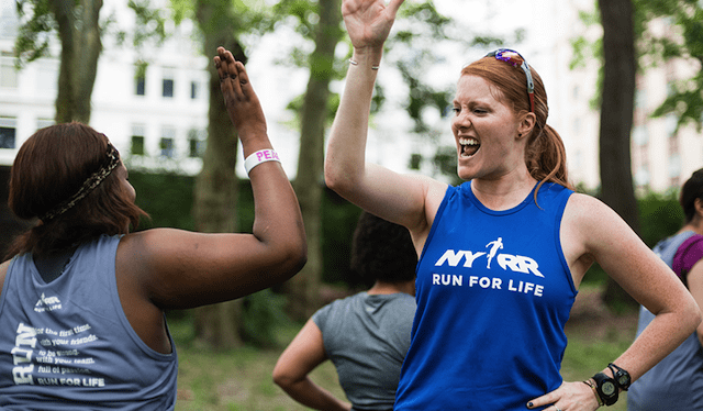 If you prefer high fives to tears of sweat, NYRR just might be fore you.