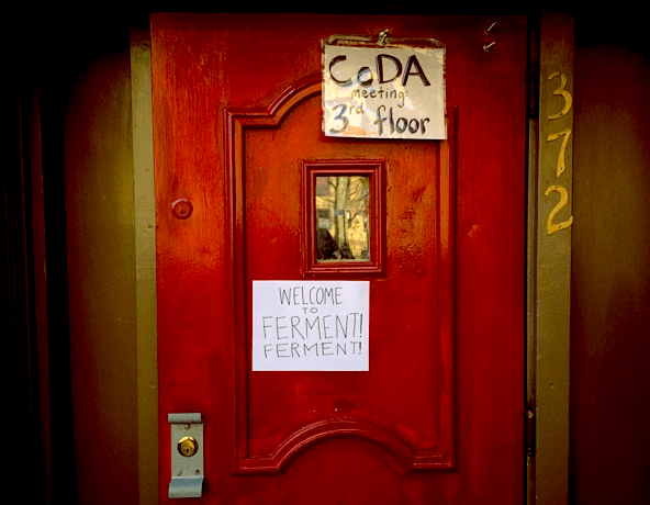 The fermentation party's front door... aka a portal to another world. Photo by Sam Corbin