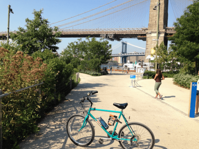 Tearing shit up by the Brooklyn Bridge.