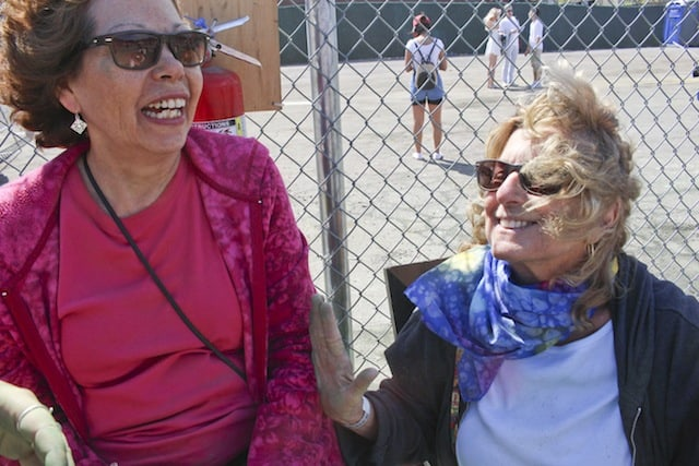 Sue, left and Tammy, right, thought the festival was largely benign. Maria Bea / Brokelyn