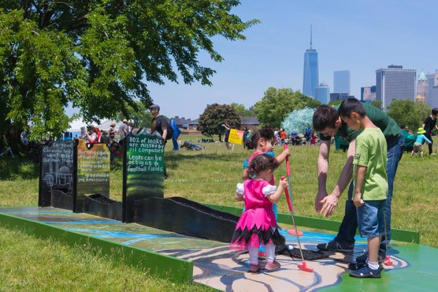 Minigolf, art and much more can be found during the Figment festival. Via Figment NYC Facebook.
