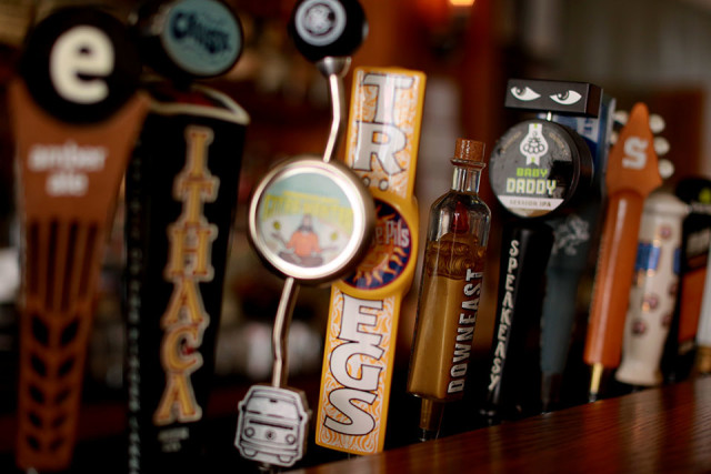 Tap into the local/domestic selection of craft beers and whiskies at Woodbines.