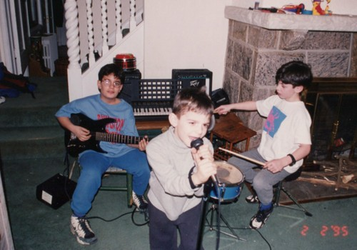 Ryan Levine, Alex Levine, and Zach Staggers, from R to L, circa 1990-something.