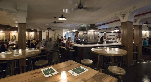 At Bierocracy, German-style beer hall drinking is updated in a polished setting.