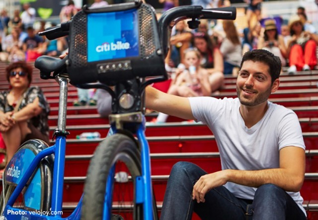 Jeffrey Tanenhaus rode this Citi Bike across America and incurred quite the fine. Via Brooklyn Bicycle Co.