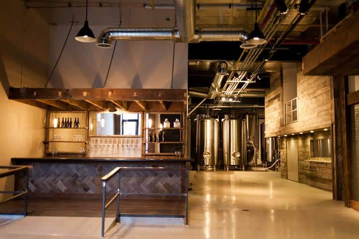Sit at the bar or peek into the brewery while you enjoy your Belgian-inspired beer at LIC Beer Project.