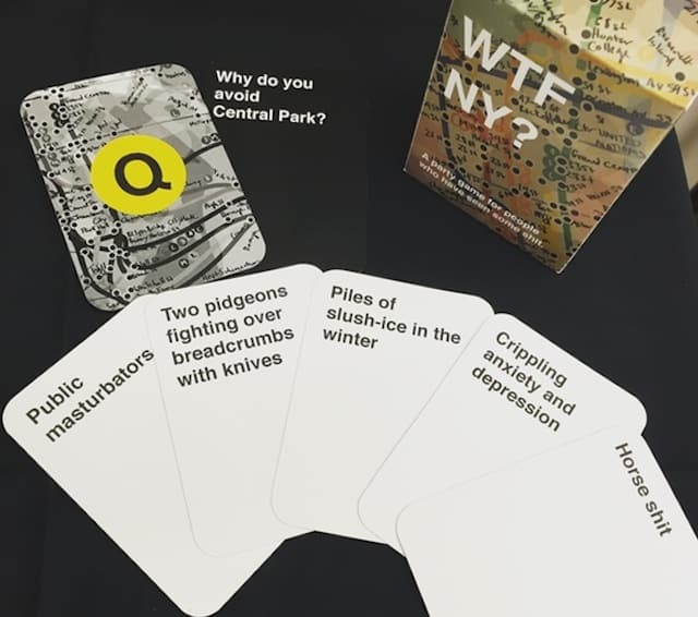 Hey, instead of Cards against Humanity, play this New York-specific alternative at your next party