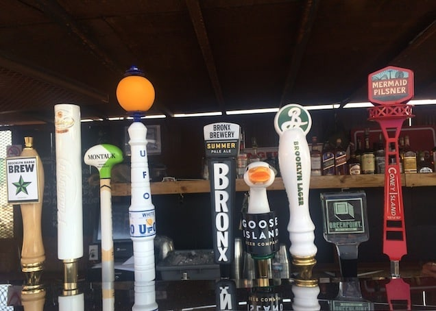 A good selection of local brews on tap
