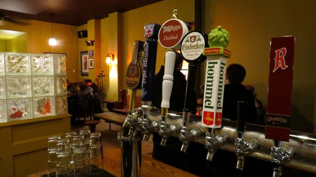 The Monk consistently has 8 profiles of fine Belgian beer on tap.