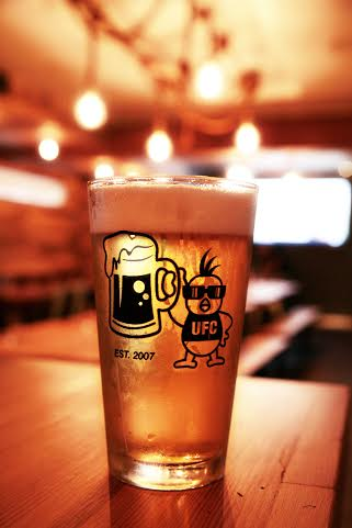 Chickens are especially delicious when they are unidentified, flying, and come with a tasty beer like this one.