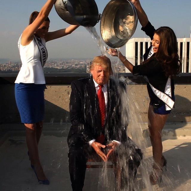 Trump's campaign is under water. Via Trump's Facebook.