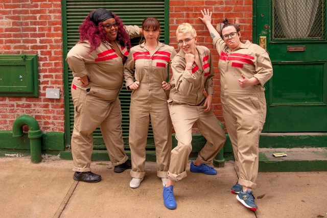 The Ghostedbusters (L to R): Emily Fleming, Marie Cecile Anderson, Sharron Paul and Jackie Zebrowski.