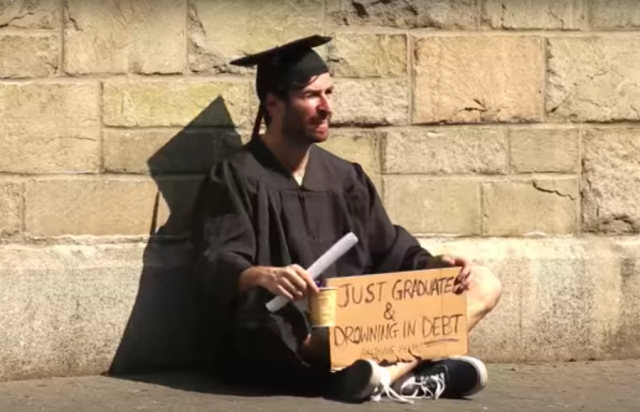 Could you resell your diploma to pay off student loans? Watch this comedian try