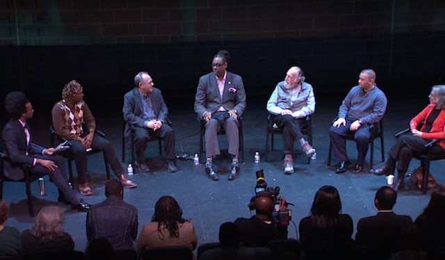 A recent town hall meeting on gentrification. via BRIC