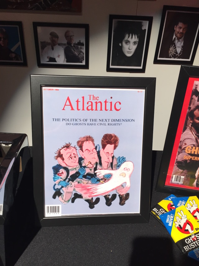 The fan art table included a recreation of the Atlantic cover from the film. Photo by Tim Donnelly/Brokelyn.