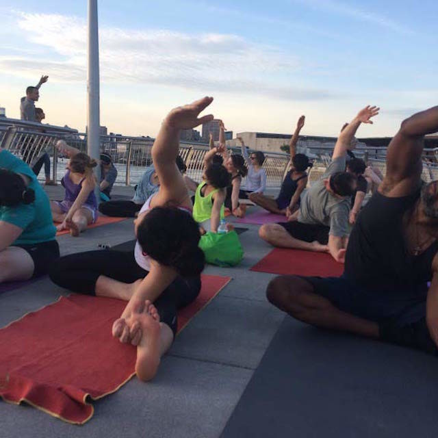 Where to find free yoga almost every day of the week this summer