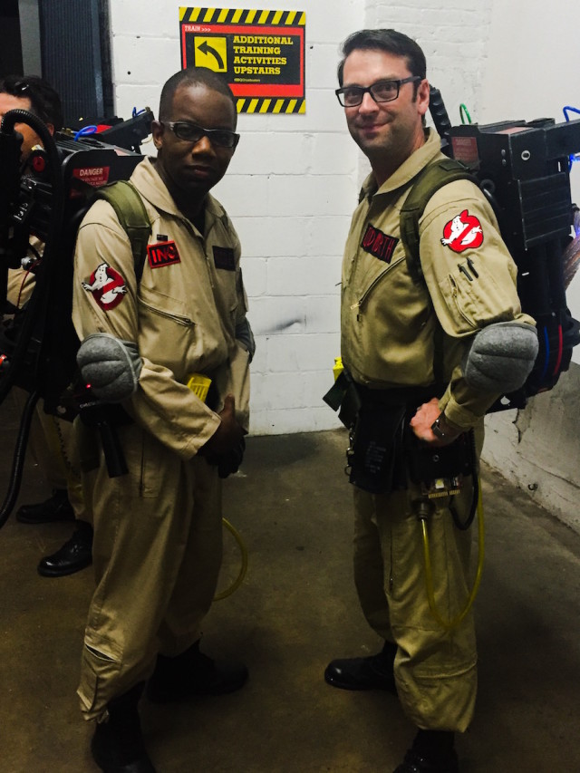 Eric Cudworth, president of the NYC Ghostbusters fan group, is an NYPD detective. Photo by Meghan Stephens/Brokelyn.