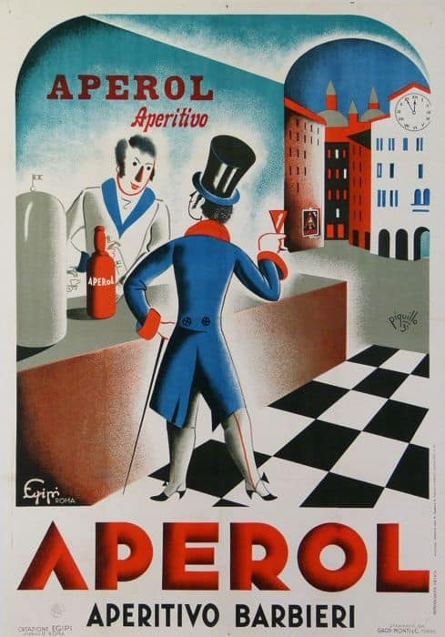 A vintage Aperol poster.