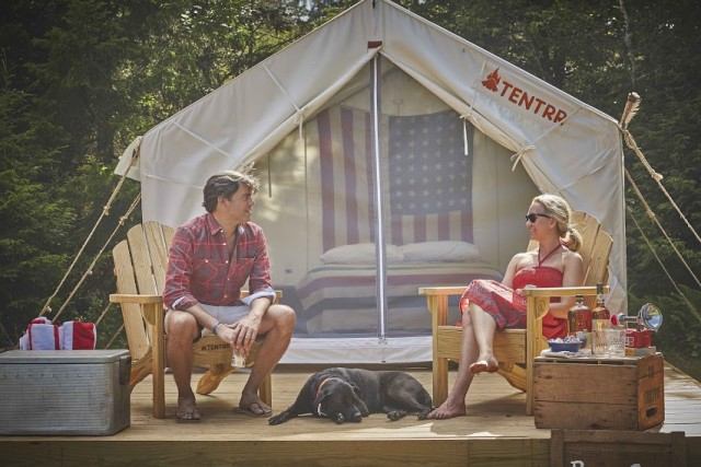 Tentrr sets up campsites like this one so all you have to do is arrive and enjoy the great outdoors. Via Tentrr.