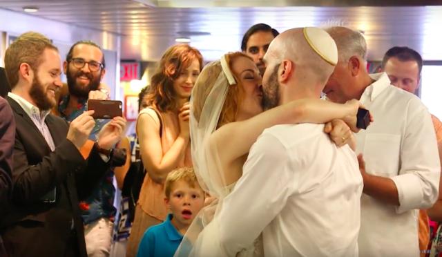 This wedding was a ferry good idea. Via screenshot.