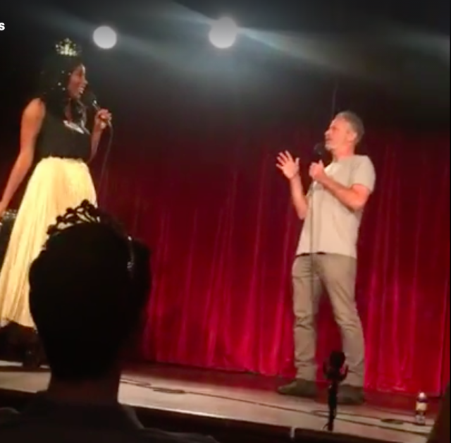 Video: Jon Stewart made a surprise appearance at Jessica Williams' 2 Dope Queens show last night