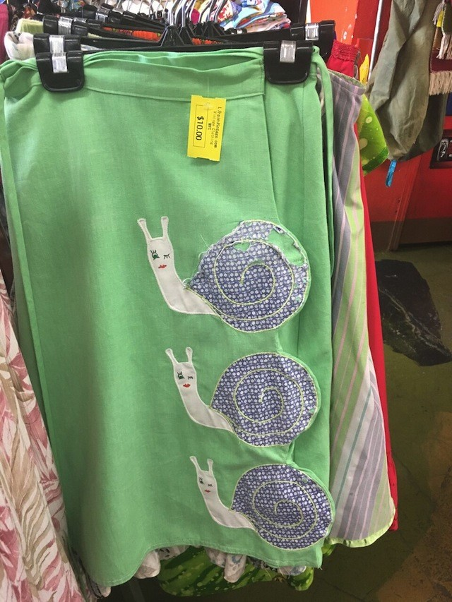 Oh sure, I've always wanted a spearmint-colored dress with a pattern of winking snails.