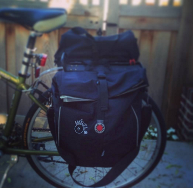 A pannier will streamline your ride. Photo via Instagram