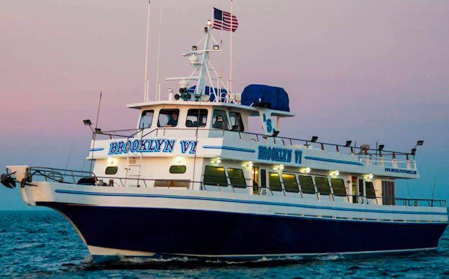 Go fishing on the Brooklyn VI, one of several fishing charters in Sheepshead Bay. Photo via Brooklyn VI Fishing