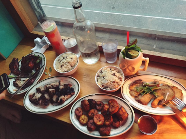 Everyone will enjoy a vegan Caribbean feast at Glady's. Photo via @linaqueenvegan on Instagram.