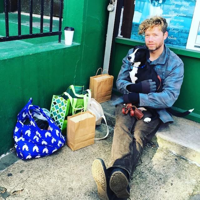 John with his own dog, Boo. Photo via @doggiedaytrips