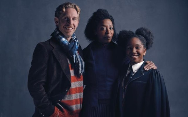 Your new Ron, Hermione and their daughter from the play version of the Cursed Child.