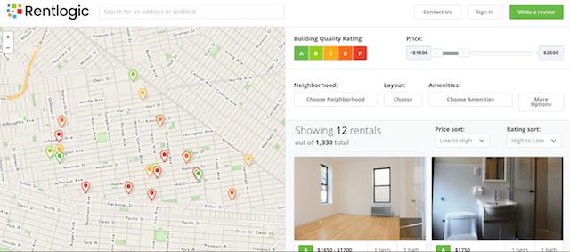 Rentlogic uses publicly available data to rate buildings and landlords. Photo via Rentlogic
