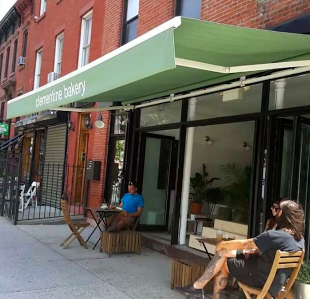The new space provides shady sidewalk seating that will protect you from the heat dome. Photo via @oneveganfatty on Instagram