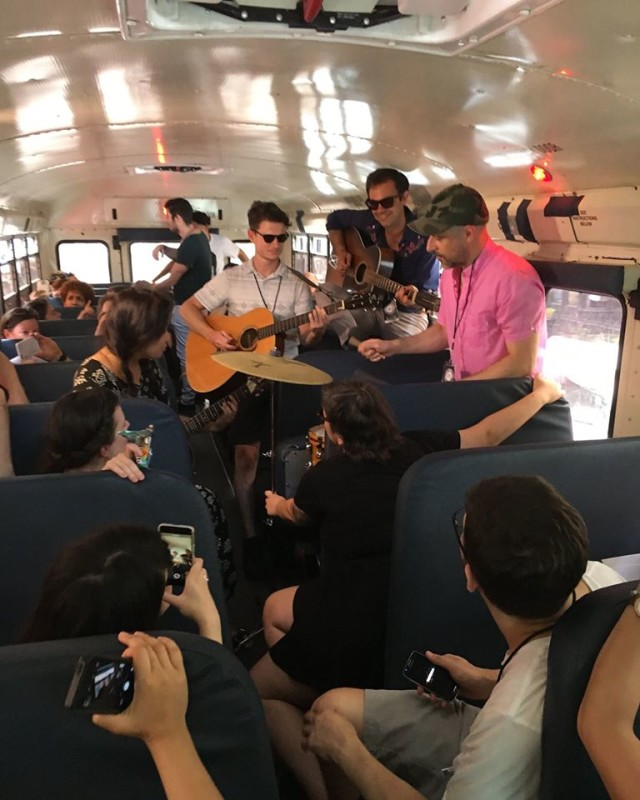 If you've never seen a band play on a bus, here they are.
