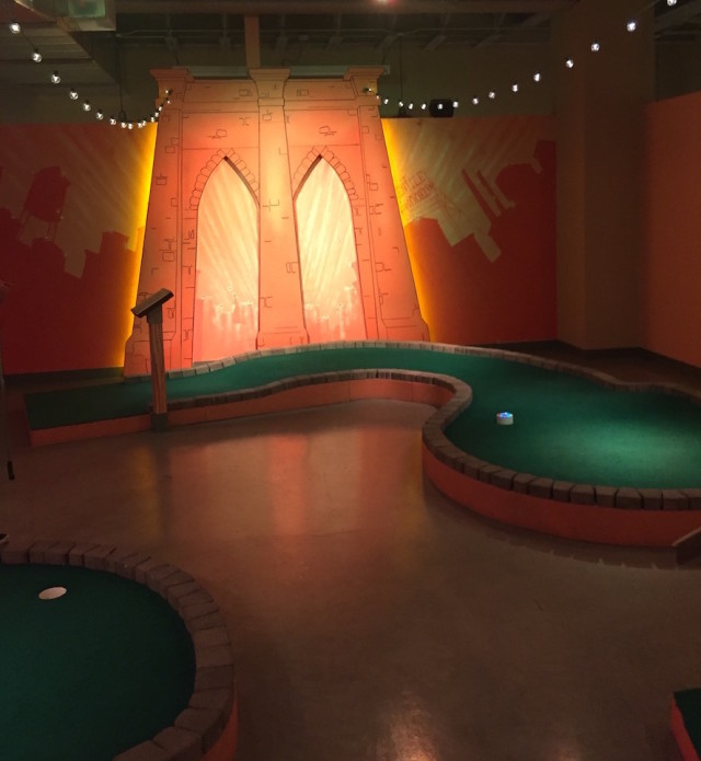 Beat the heat idea: This new (air conditioned!) mini golf course is a cheesy fun tribute to Brooklyn