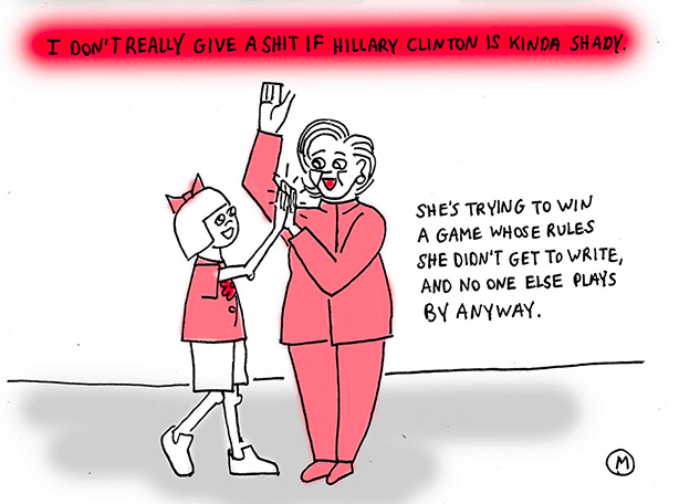 Brokelyn comic: Why I don't give a shit if Hillary Clinton is kinda shady