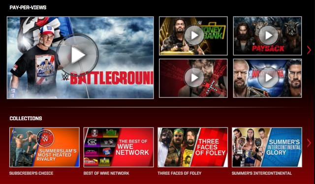 The WWE Network, via screenshot.