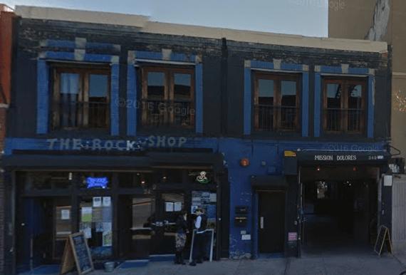 The outside of the Rock Shop, via Google Maps.