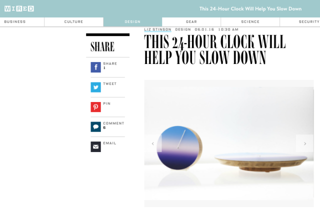 The Today clock caught the eye of sites like Wired.