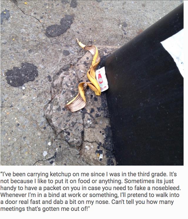Ketchup addicted banana