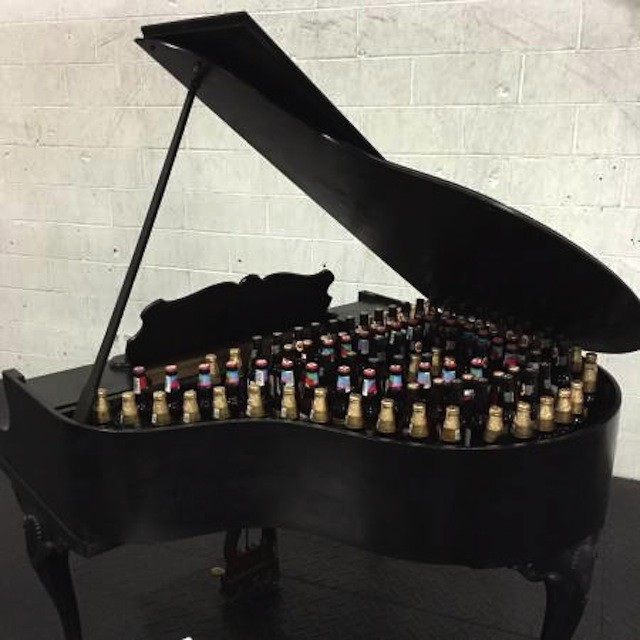 The keys to happiness: a free 'party' piano that you can literally fill with beer