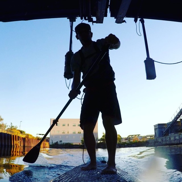 This guy paddle boarded the Gowanus Canal like some kind of Brooklyn prophet